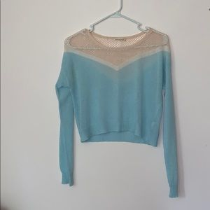 Cropped longsleeve baby pink/baby blue
